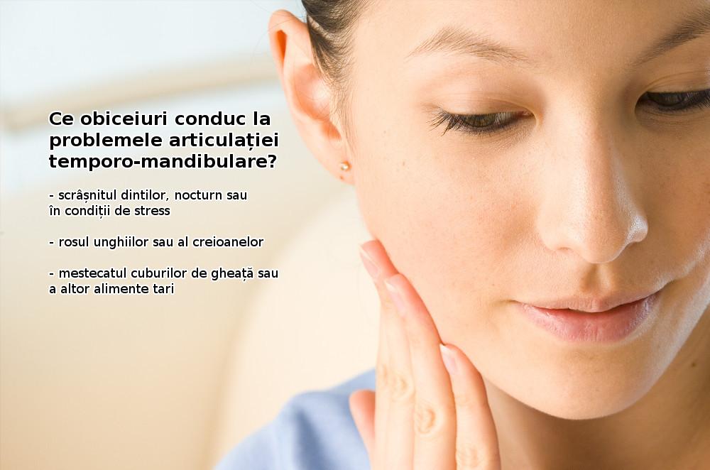 Care sunt cauzele problemelor articulației temporo-mandibulare?